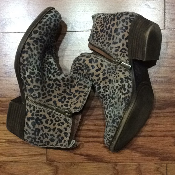 980eb81e2911 Lucky Brand Shoes | Lucky Leopard Print Leather Booties | Poshmark